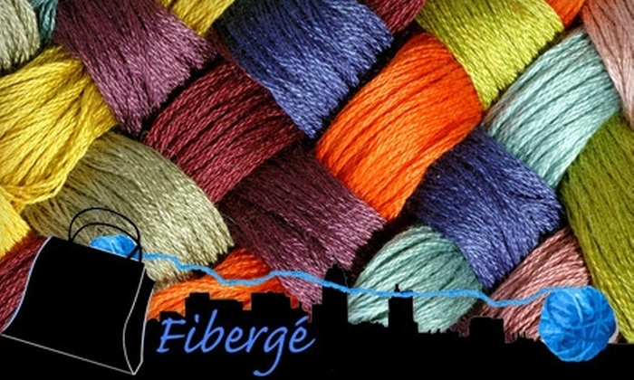Fibergé - Montgomery: $20 for a Beginner's Knitting Class with Materials ($40 Value) or $30 for Three Intermediate Knitting Sessions ($60 Value) at Fibergé