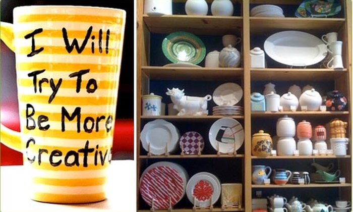 Half Off Ceramic Painting - Color Me Mine - Tribeca  Groupon