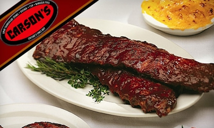 Carson's - Near North Side: $15 for $30 Worth of Food and Drink at Carson's Ribs and Steaks