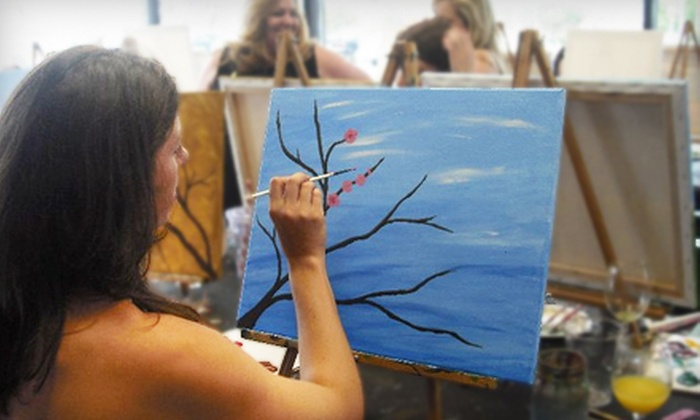Palettes and Pairings - Moss Bay: $20 for a Two-Hour Painting Class Plus Drink and Appetizers or Open Painting at Palettes and Pairings in Kirkland ($40 Value)