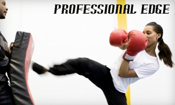 Professional Edge - Tuxedo Industrials: $35 for One Month of Cardio-Kickboxing Classes at Professional Edge