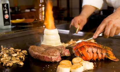 $31 for $50 Worth of Hibachi Food and Sushi at Domo 77 and Japan 77