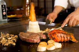 $24 for $50 Worth of Hibachi Food and Sushi at Domo 77 and Japan 77