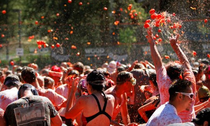 Tomato Battle - Pleasanton: $30 for Admission to Norcal Tomato Battle at Alameda County Fairgrounds in Pleasanton on Saturday, October 1 ($60.98 Value)
