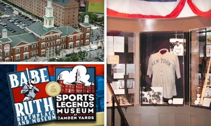 Sports Legends Museum at Camden Yards and the Babe Ruth Birthplace Museum - Multiple Locations: $12 for Admission for Two to the Sports Legends Museum at Camden Yards and the Babe Ruth Birthplace Museum (Up to $24 Value)