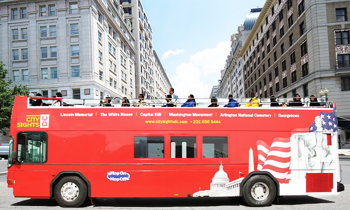 Citysights DC - Union Station (Main Lobby): Hop-On, Hop-Off Monuments Bus Tour with Choice of One of Three Attractions from CitySights DC (Up to 41% Off)