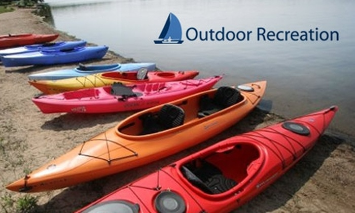Outdoor Recreation - Multiple Locations: $35 for a Five-Hour Kayak-Rental Package from Outdoor Recreation ($75 Value)