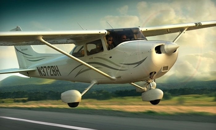 WNC Aviation - Asheville: $55 for a Flight Lesson at WNC Aviation in Fletcher ($99 Value)