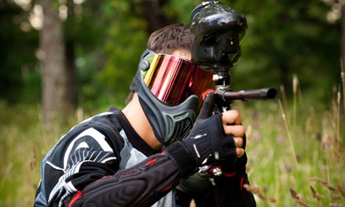 BlitZkrieg Paintball - University: All-Day-Play Paintball Package for One or Four Players at BlitZkrieg Paintball (Up to 51% Off)