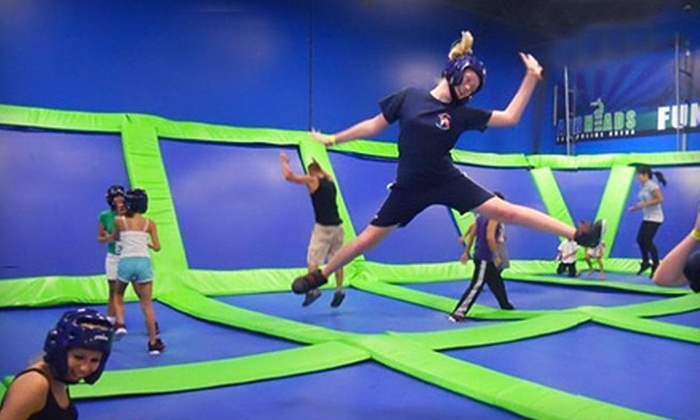 AirHeads Trampoline Arena - Citrus Park-Fern Lake: $24 for Four One-Hour Trampoline-Jump Passes at AirHeads Trampoline Arena