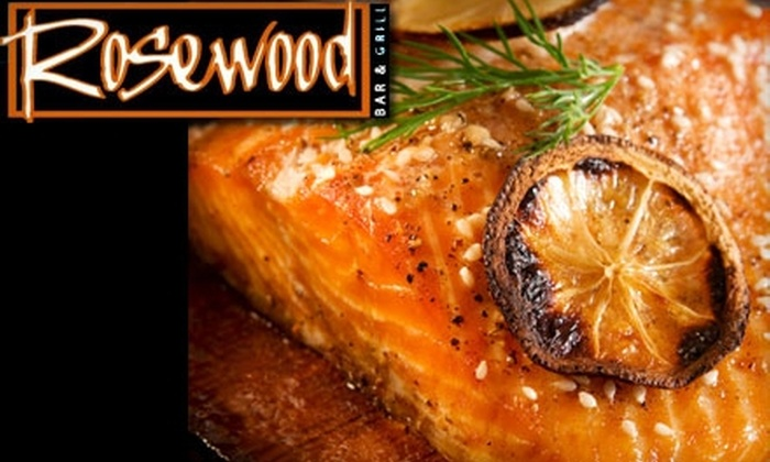 Rosewood Bar and Grill - Stockton: $20 for $40 Worth of Seasonal American Fare and Drinks at Rosewood Bar and Grill