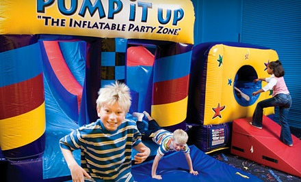 5 Kids' Pop-in-Playtime or Family JumpTime Passes (a $40 value) - Pump It Up in Margate
