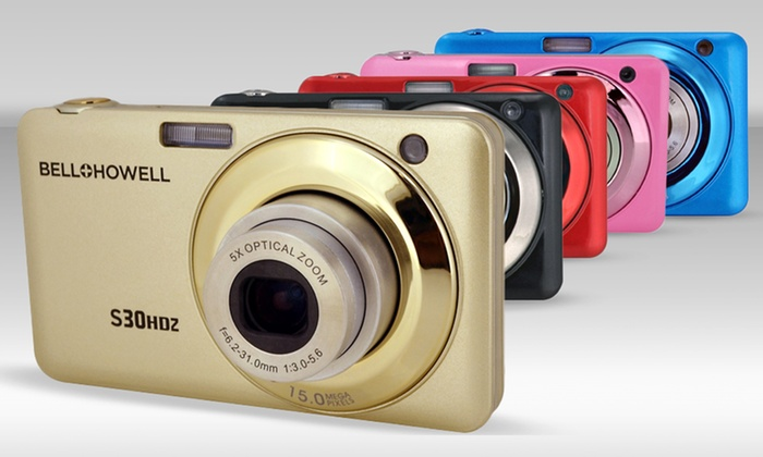 Bell+Howell 15-Megapixel Digital Camera (S30HDZ): Bell+Howell 15-Megapixel Digital Camera with a 2.7 In. LCD Screen (S30HDZ). Multiple Colors Available. Free Returns.