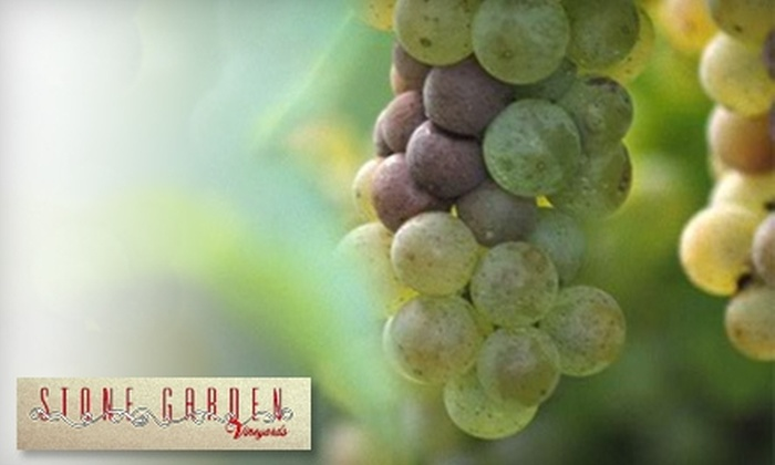 Stone Garden Vineyards - Lockeford: $13 for Wine Tasting for Two and a Bottle of Wine at Stone Garden Vineyards Inside Vino Piazza in Lockeford (Up to $29.99 Value)