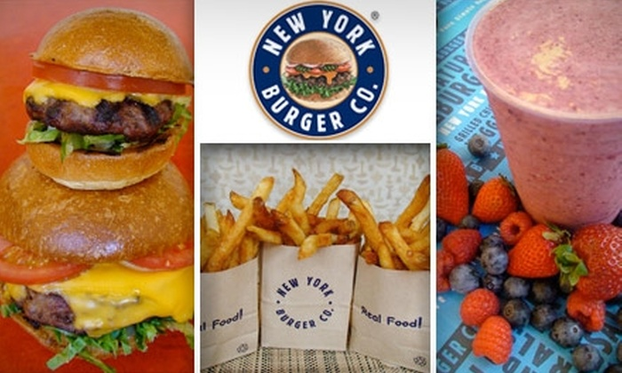 New York Burger Company - Multiple Locations: $15 Worth of Upscale Fast Food at New York Burger Co.
