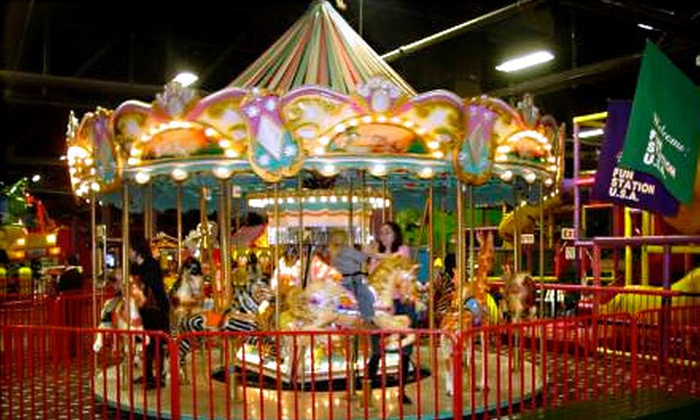 Fun Station USA - Lynbrook: Fun Station USA Outing with Unlimited-Ride Wristband and $10 Game Card for One or Two (Up to 54% Off)