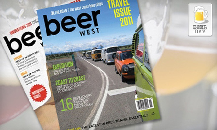"""Beer West"" Magazine - Sunnyside - Walnut Grove: $9 for One-Year Subscription to ""Beer West"" Magazine ($20 Value)"