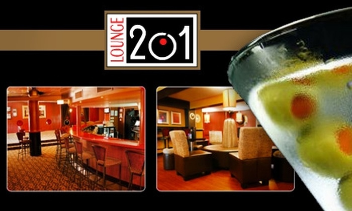 Lounge 201 - Capitol Hill: $10 for $25 Worth of Sophisticated Tapas, Flatbreads, and Cocktails at Lounge 201