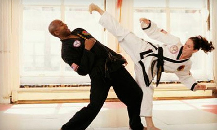 World Martial Arts Center - Multiple Locations: 5, 10, or 20 Kickboxing or Hapkido Classes with a Uniform at World Martial Arts Center (Up to 91% Off)