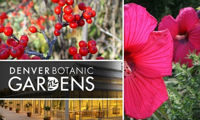 Denver Botanic Gardens 40 For One Year Family General Membership To