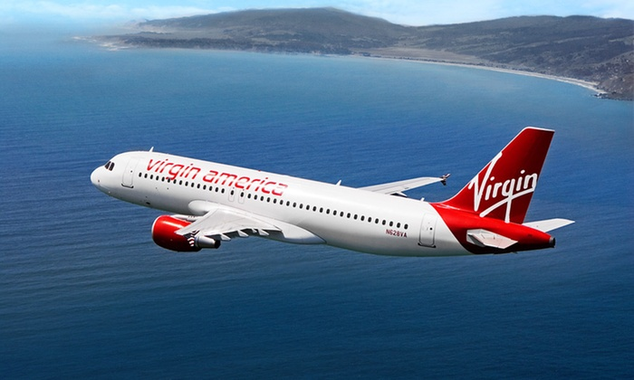 Virgin America: $39 for $100 Toward Round-Trip Air Travel Between Chicago and Los Angeles Including In-Flight Gogo WiFi from Virgin America