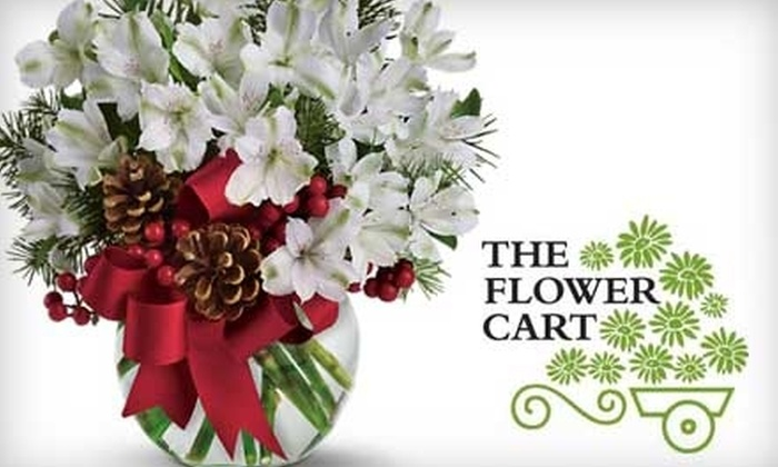 The Flower Cart, Inc. - Multiple Locations: $20 for $40 Worth of Floral Arrangements, Plants, and More from The Flower Cart, Inc.