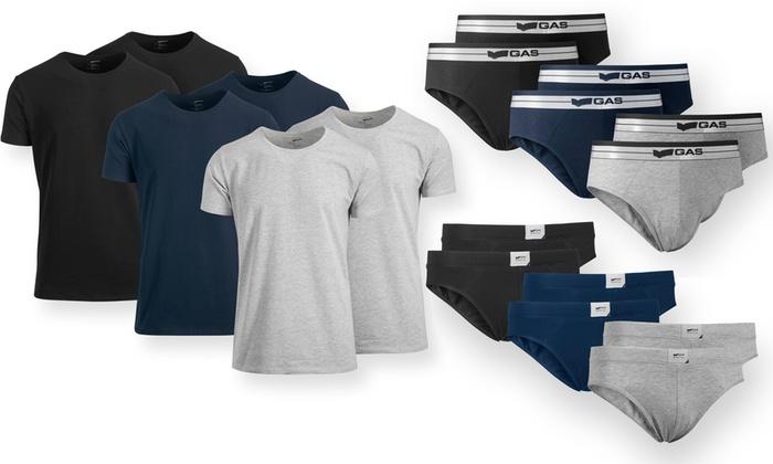 6 slips o t-shirts Gas cotone
