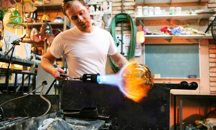 Freeform Studio Glass - Weymouth: Glass Blowing Experience For One (£29) or Two (£56) at Stuart Wiltshire Glass