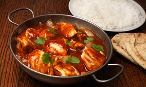 Voujon: Two-Course Indian Meal with Rice or Naan For Two, Four or Six at Voujon