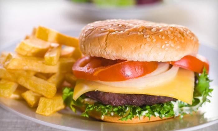 Shamrocks Pub & Grill - North Central Omaha: $10 for Burger Dinner for Two at Shamrocks Pub & Grill (Up to $21 Value)