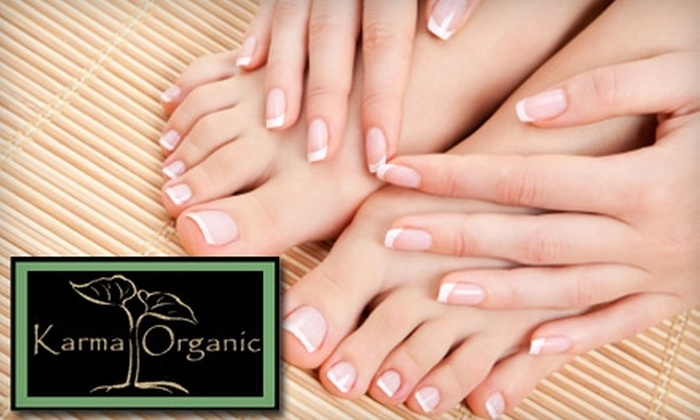 Karma Organic Spa - Ridgewood: $25 for Rosemary Mint Manicure and Pedicure at Karma Organic Spa