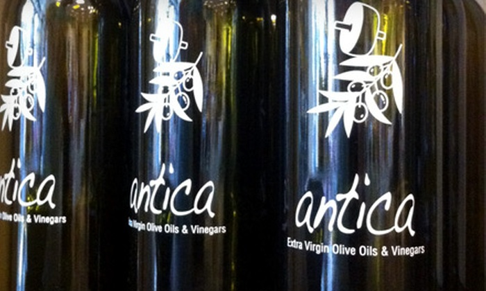 Antica Olive Oils and Vinegars at Prep Kitchen Essentials - Seal Beach: $30 for Olive-Oil-and-Balsamic-Vinegar-Pairings Gift Basket at Antica Olive Oils and Vinegars in Seal Beach ($62 Value)