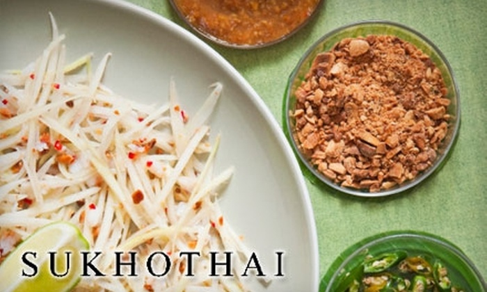 Sukhothai - Victoria Park: $15 for $30 Worth of Thai Fare and Drinks at Sukhothai