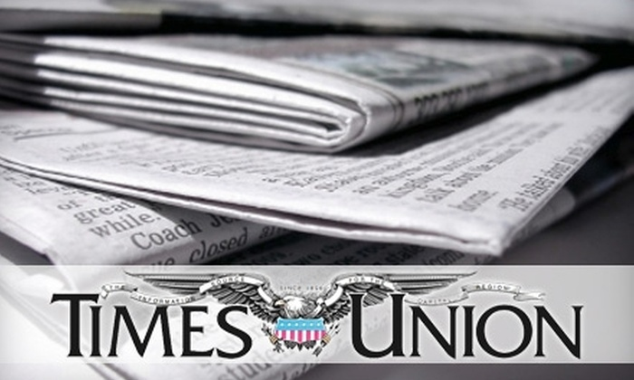 """Times Union"" - Albany / Capital Region: $6 for 30 Weeks of Home-Delivery, Sunday ""Times Union"" and Monday-Saturday e-Edition ($90 Value)"