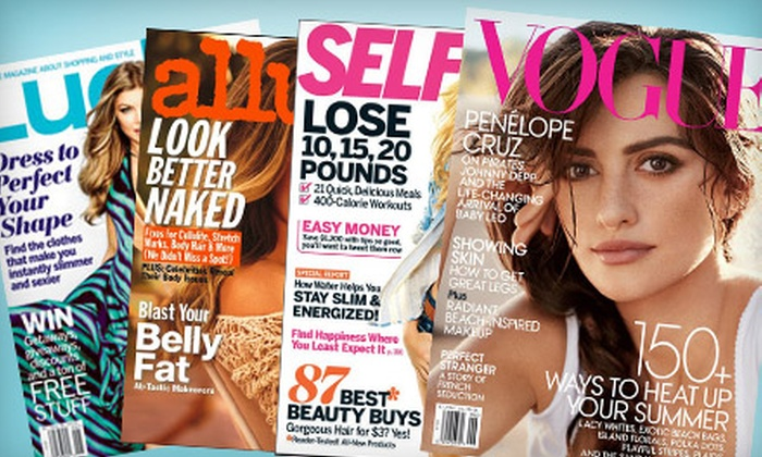 Individual Subscription or Four-Subscription Package to Beauty and Fashion Magazines from Condé Nast. Five Options Available.