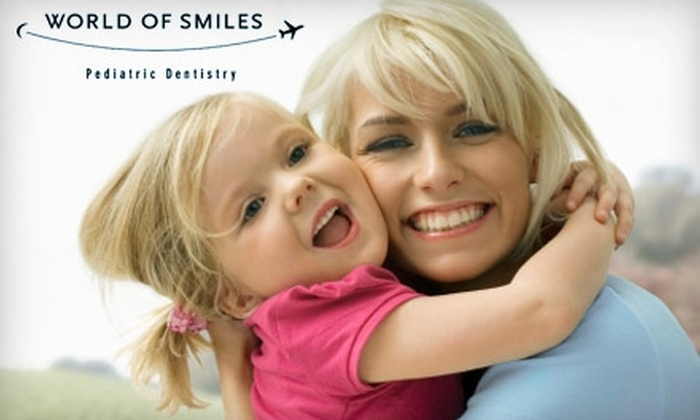 World of Smiles Pediatric Dentistry - Cedar Hills - Cedar Mill: $65 for Children's Dental Exam, Cleaning, X-Rays, and Fluoride Treatment at World of Smiles Pediatric Dentistry in Beaverton (Up to $338 Value)