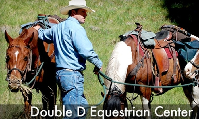 Double D Equestrian Center - Rolesville: Trail Rides and Riding Lessons at Double D Equestrian Center (Up to $190 Value). Choose from Four Options.