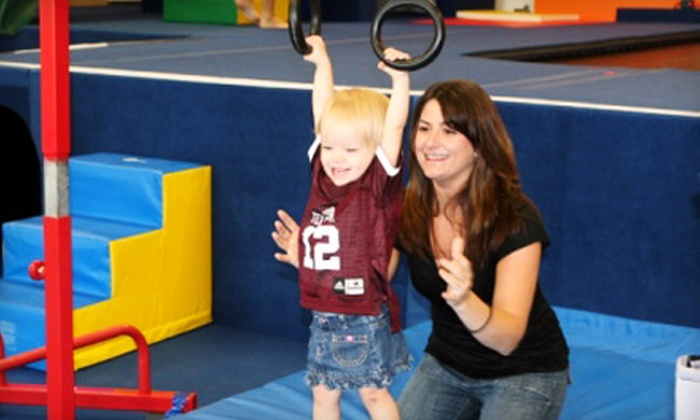 Gym Adventures - Creekwood: Four or Eight Kids' Gymnastics Classes at Gym Adventures in Saginaw (Up to 61% Off)