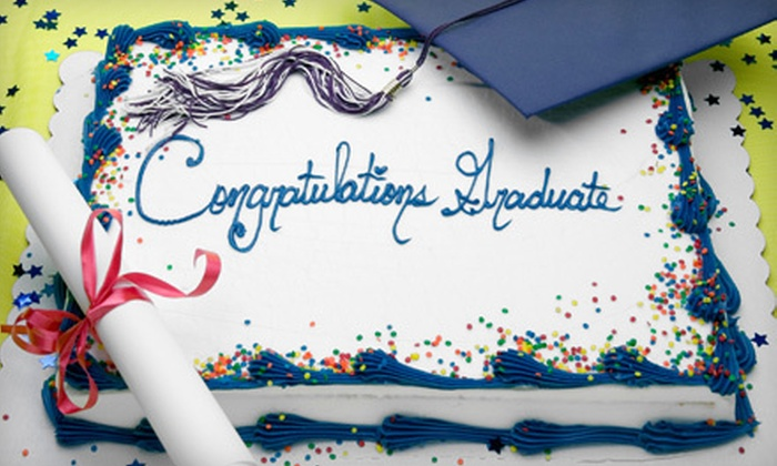 Nadine's Designs - South Portland: Quarter-, Half-, or Full-Sheet Graduation Cake from Nadine's Designs (Up to 53% Off)