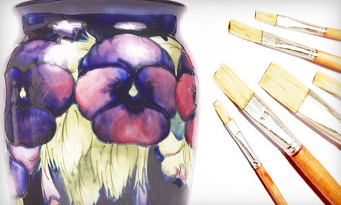 The Coloring Room - Caldwell: Paint-Your-Own-Pottery Experience for Two, Four, or Six at The Coloring Room in Caldwell (Up to 60% Off)