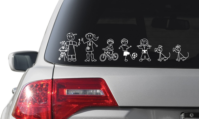 Family Stickers: Custom Family Car Stickers from Family Stickers (Up to 52% Off). Two Options Available.
