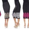 Border Print Midi Skirt