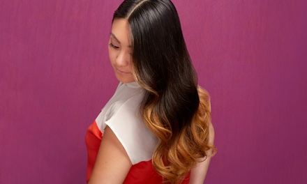 Blow-Dry and Style with Partial Highlights or Haircut at Salon at the Lake (Up to 65% Off)