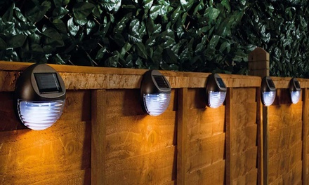 Round Solar Fence Lights: Four ($22) or Eight ($36) (Don't Pay up to $632)