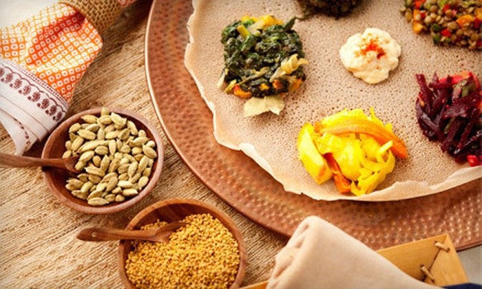 Addis Ababa Restaurant - Addis Ababa: Ethiopian Food and Drinks for Two, Four, or More at Addis Ababa Restaurant (Half Off). Four Options Available.