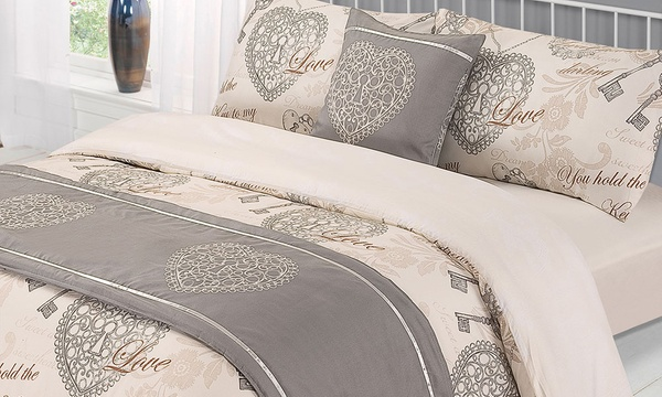 Six Piece Floral Lock And Key Complete Bed Set