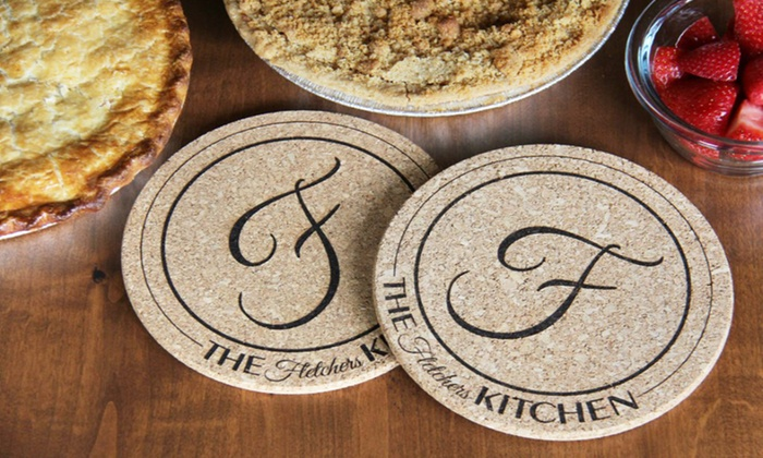 American Laser Crafts: Two or Four Personalized Kitchen Hot Pads