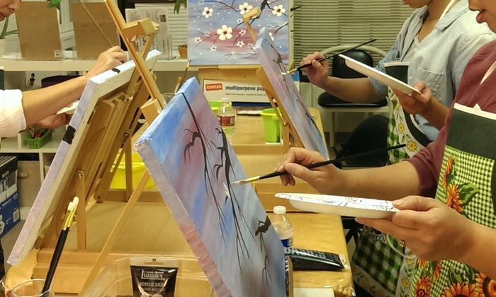 AMY ART STUDIO - Monterey Park: Two-Hour Painting Lesson at Amy Art Studio (49% Off)