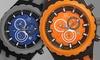 Joshua & Sons Men's Chronograph Watches: Joshua & Sons Men's Chronograph Watch in Gray or Orange.