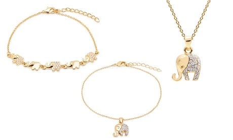 Ensemble elephant ornée de cristaux Swarovski®